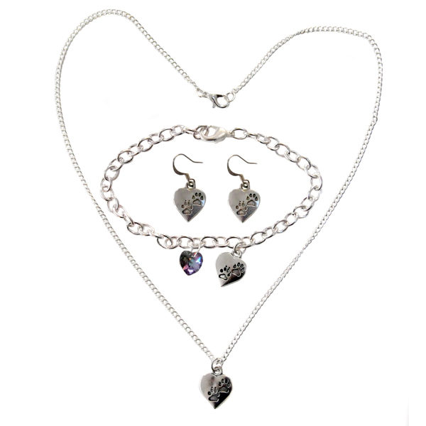 Heart and paw jewellery