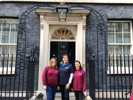 10 Downing Street with Hope Rescue and Forever Hounds Trust
