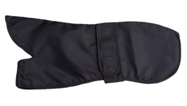 black dog coat