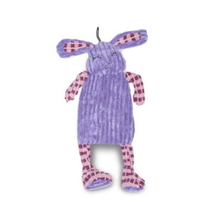 Purple rabbit dog toy