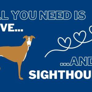 Sighthound fridge magnet