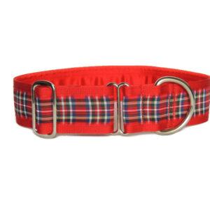 red tartan luxury collar