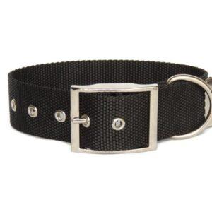 black plain buckle collar