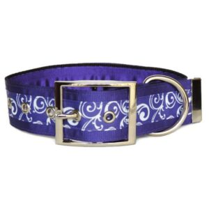 purple swirls luxury buckle collar
