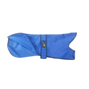 Blue waterproof Greyhound coat
