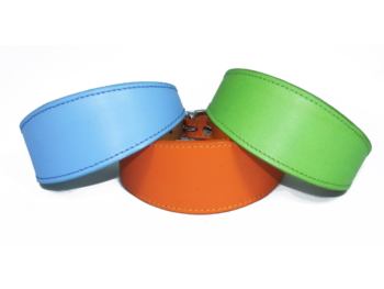 3 leather sighthound collars