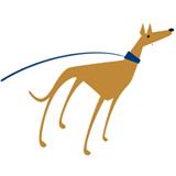 Forever Hounds Trust dog Illustration