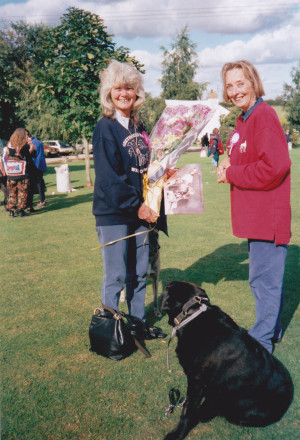 Jilly Cooper with Angela
